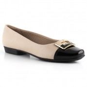 Ballet Flats with Square Ornament