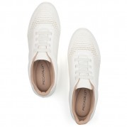 Low-heeled Wedge Sneakers with Elastic shoelaces