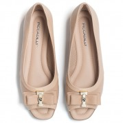 Peep toe Ballet flats with Ribbon Ties Ornament