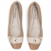 Buckle Ballet flats with Golden Ornament on the Heel