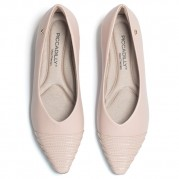 Ballet flats with Golden Ornament on the Heel