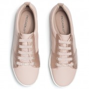 Wedge Sneakers with elastic shoelaces and Cut-out effect