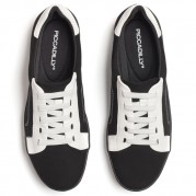 Bicolor Wedge Sneakers with elastic shoelaces