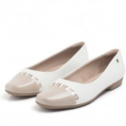 Bicolor Ballet flats with Pendant