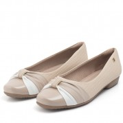 Ballet Flats with Knot Ornament