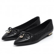 Ballet Flats with Ribbon Ties Ornament and Golden Ornament on the Heel