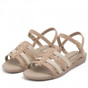 Flat Sandals with Straps and Hotfix