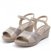 Wedge Sandals with Elastane