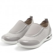 Low-heeled Wedge Slip On Sneakers with Elastane