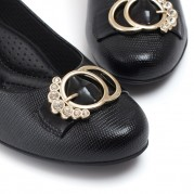 Mid-heeled Scarpin with Strass Ornament