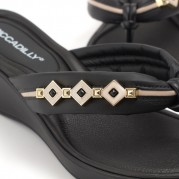 Embellished Wedge Flip-flops