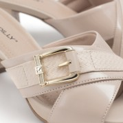 Buckle Mid-heeled Clog