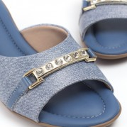 Wedge Clog with Strass Ornament