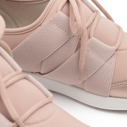 Low-heeled Wedge Sneakers with shoelaces and Elastane and Elastic
